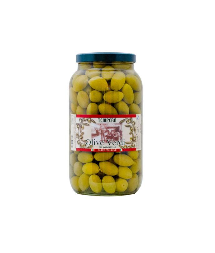 Olive Verdi in vaso di vetro