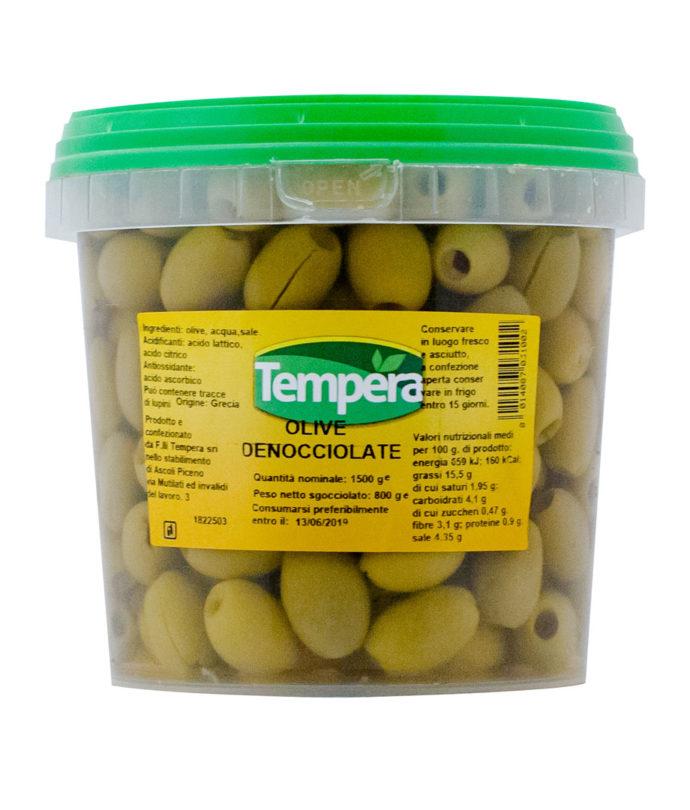 Olive Verdi in Salamoia Denocciolate